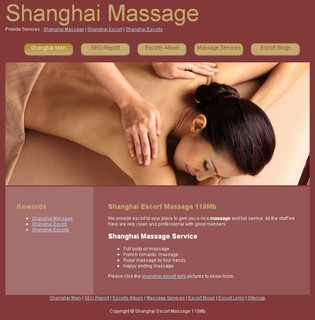 SEO Website : Shanghai Escort 110MB